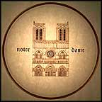 Notre Dame Collector Plate