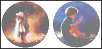 Sabina and Erik & Dandelion - Set of 2 Collector Plate by Donald Zolan