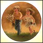 Dozens Of Daisies Collector Plate by Donald Zolan