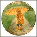 Sunny Umbrella Collector Plate by Robert Anderson