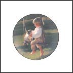 The Garden Swing Collector Plate by Donald Zolan