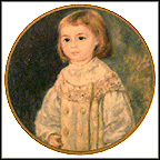 Child In White Collector Plate by Auguste Renoir