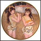 Two Little Circus Girls Collector Plate by Auguste Renoir