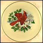 Cardinal and Holly Collector Plate