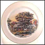 Autumn In New England - Cider Making Collector Plate by Currier & Ives