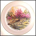 American Homestead Spring Collector Plate by Currier & Ives