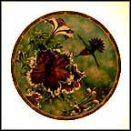 Anna's Hummingbird With Petunias Collector Plate by Cyndi Nelson MAIN