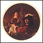 Self Portrait With Saskia by Rembrandt Collector Plate by Rembrandt MAIN