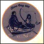 Fishing Collector Plate by Gunnar Bratlie