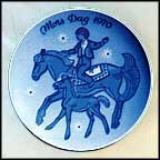 Mare And Foal Collector Plate by Gunnar Bratlie