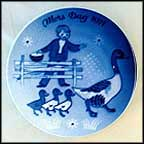 Duck And Ducklings Collector Plate by Gunnar Bratlie