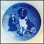 Dog And Puppies Collector Plate by Gunnar Bratlie
