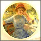Alphonsine Fournaise Collector Plate by Pierre-August Renoir