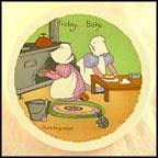 Friday - Sweeping Day Collector Plate by Charlotte Gutshall