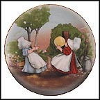 Playing Catch Collector Plate by Charlotte Gutshall
