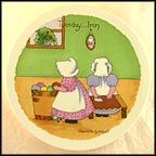 Tuesday - Ironing Day Collector Plate by Charlotte Gutshall