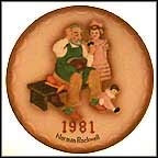 The Shoemaker Collector Plate by Norman Rockwell
