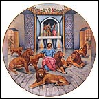 Daniel And The Lions Collector Plate by Yiannis Koutsis MAIN