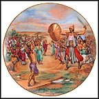 David And Goliath Collector Plate by Yiannis Koutsis MAIN
