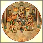 Joseph Interprets Pharoah's Dream Collector Plate by Yiannis Koutsis