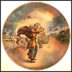 Noah And The Ark Collector Plate by Yiannis Koutsis