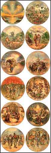 The Creation Series - Set of 12 - Matching Serial Nos Collector Plate by Yiannis Koutsis
