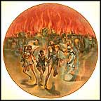 Sodom And Gomorrah Collector Plate by Yiannis Koutsis