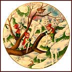 Decorating The Tree Collector Plate by Seima