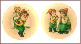 Piggyback / A Happy Time - set of 2 Collector Plate by Seima