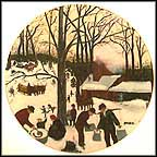 Bringing In The Maple Sugar Collector Plate by Grandma Moses