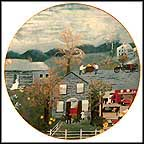 Halloween Collector Plate by Grandma Moses