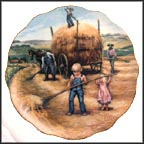 Harvesting The Crops Collector Plate by Rosemary Calder