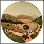 The Old Automobile Collector Plate by Grandma Moses