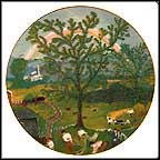 Rainbow Collector Plate by Grandma Moses