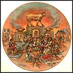 The Golden Calf Collector Plate by Yiannis Koutsis