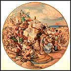 Moses Smashes The Tablets Collector Plate by Yiannis Koutsis