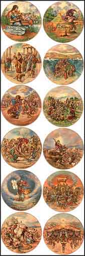The Promised Land - Set of 12 - Matching Serial Nos Collector Plate by Yiannis Koutsis