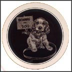 Beware Of Dog Collector Plate by Rudy Droguett