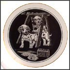 Double Trouble Collector Plate by Rudy Droguett
