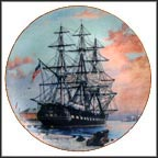 USS Constitution Collector Plate by Alan D'Estrehan