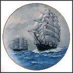 Cutty Sark & Thermopylae Collector Plate by Alan D'Estrehan