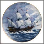 Golden Hind Collector Plate by Alan D'Estrehan