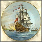 HMS Royal Sovereign Collector Plate by Alan D'Estrehan