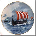 Viking Drakar Collector Plate by Alan D'Estrehan