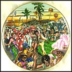Carnival Time In Rio Collector Plate by B. Higgins Bond