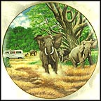 Great Tusks Of The Serengeti Collector Plate by B. Higgins Bond