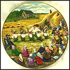 Harvesting In The Ukraine Collector Plate by B. Higgins Bond