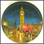 Rainy Day In London Collector Plate by B. Higgins Bond