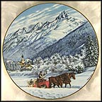 The Snow Village Of Mandulain Collector Plate by B. Higgins Bond