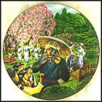 Tokyo At Cherry Blossom Time Collector Plate by B. Higgins Bond